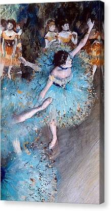 Stretched Canvas Print - Ballerina On Pointe  by Edgar Degas