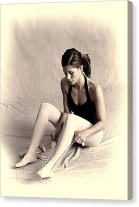 Dance Ballet Roses Canvas Print - Ballerina by Phyllis Taylor