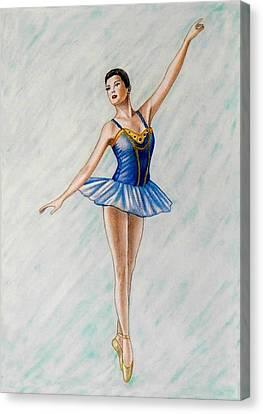 Ballerina Portrait Painting  Canvas Print by Luigi Carlo