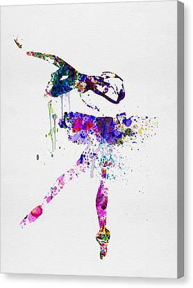 Ballerina Watercolor 2 Canvas Print by Naxart Studio