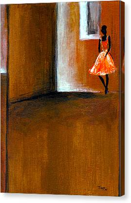 Ballerine Solitaire Canvas Print by Mirko Gallery