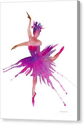 Ballet Arabesque Canvas Print by Amy Kirkpatrick