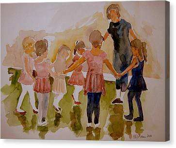 Canvas Print featuring the painting Ballet Class by Jeffrey S Perrine