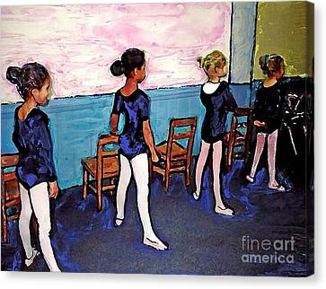 Ballet Class Canvas Print by Sarah Loft
