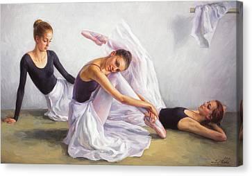 Ballet Class Canvas Print