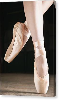 Ballet Dancer En Pointe Canvas Print by Don Hammond