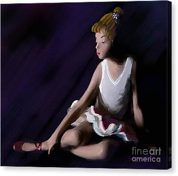 Ballet Dancer Canvas Print by Michelle Wiarda
