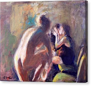 Ballet Dancers Backstage Canvas Print by Susanne Forestieri