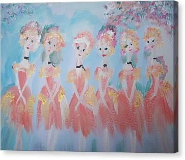 Ballet Group Canvas Print