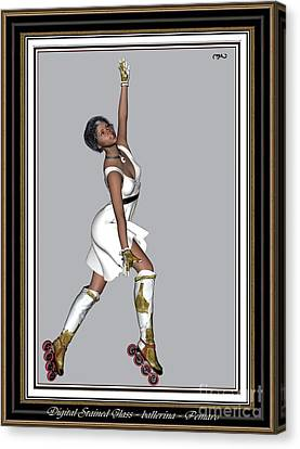 Ballet On Skates 5bos2 Canvas Print by Pemaro