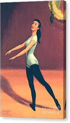 Ballet Practice Canvas Print by Art By Tolpo Collection