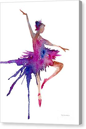 Ballet Dancers Canvas Print - Ballet Retire Devant by Amy Kirkpatrick