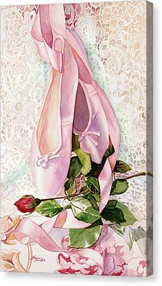 Ballet Rose Canvas Print