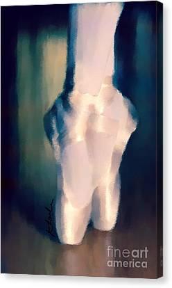 Ballet Slippers 1 Canvas Print by Karen Larter