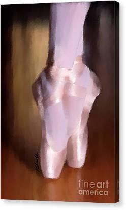 Ballet Slippers 2 Canvas Print by Karen Larter