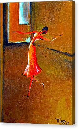 Ballet Solitaire Canvas Print by Mirko Gallery