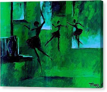 Ballet Vert Canvas Print by Mirko Gallery