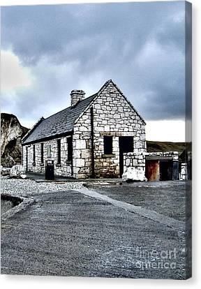 Ballintoy Stone House Canvas Print by Nina Ficur Feenan