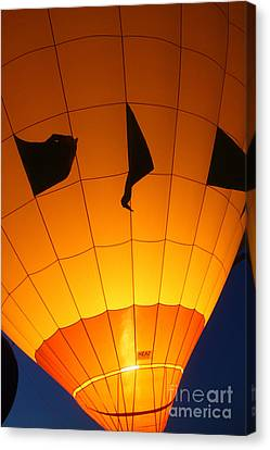 Ballon-glowyellow-7703 Canvas Print by Gary Gingrich Galleries