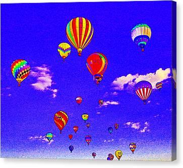 Ballon Race Canvas Print by Mustafa Abdullah