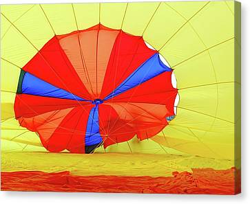 Canvas Print featuring the photograph Balloon Fantasy   1 by Allen Beatty