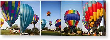 Balloon Festival Panels Canvas Print