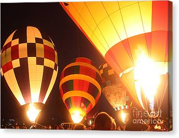 Balloon-glow-7950 Canvas Print by Gary Gingrich Galleries