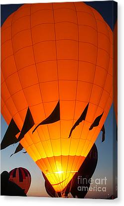 Balloon-glowyellow-7689 Canvas Print by Gary Gingrich Galleries