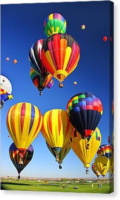 Balloon Grouping Canvas Print by Joe Myeress