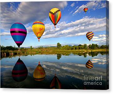 Balloon Horizon Canvas Print