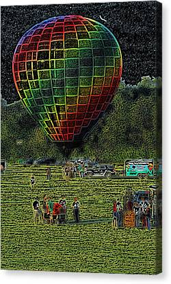 Balloon Launch Canvas Print