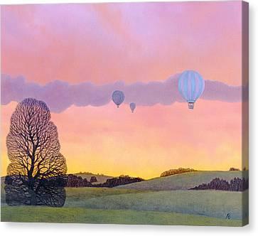 Balloon Race Canvas Print by Ann Brian