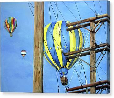 Balloon Race Canvas Print by Donna Tucker