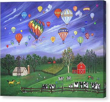 Farm Canvas Print - Balloon Race One by Linda Mears