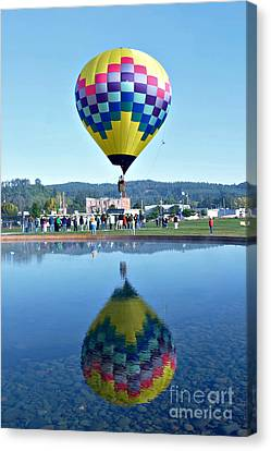 Canvas Print featuring the photograph Balloon Ride  by Mindy Bench
