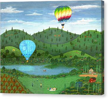 Ballooning 8 Canvas Print by Linda Mears