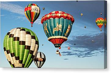 Canvas Print featuring the photograph Balloons Away by Dave Files