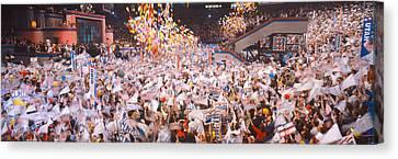 Balloons Dropping At Democratic Canvas Print