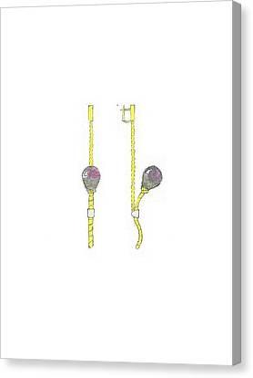 Balloons Earrings Canvas Print