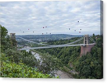 Canvas Print featuring the photograph Balloons Over Clifton by Stewart Scott