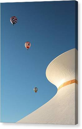Balloons Race Over The Planetarium Canvas Print