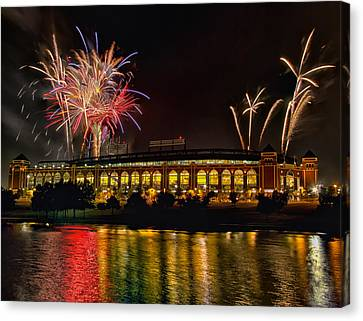 Ballpark Fireworks Canvas Print