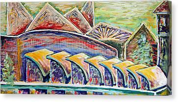 Ballpark View Canvas Print