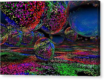 Canvas Print featuring the digital art Balls1 by Mark Blauhoefer