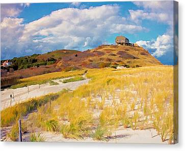 Canvas Print featuring the photograph Ballston Beach Dunes Photo Art by Constantine Gregory