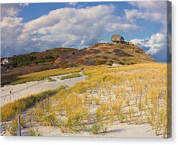Canvas Print featuring the photograph Ballston Beach Dunes by Constantine Gregory