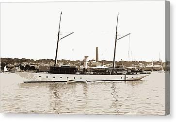 Ballymena, Ballymena Steam Yacht, Steam Yachts Canvas Print by Litz Collection