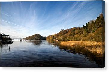 Canvas Print featuring the photograph Balmaha by Stephen Taylor