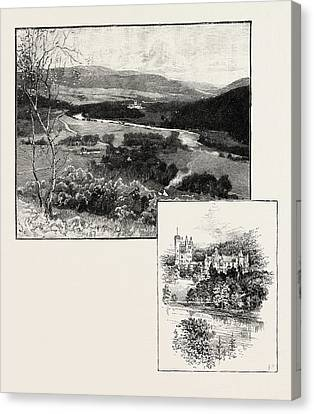 Balmoral And Balmoral Castle Canvas Print by Scottish School
