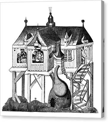 Balneology, German Bath House, 1405 Canvas Print